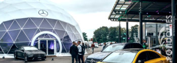 mercedes dome tent