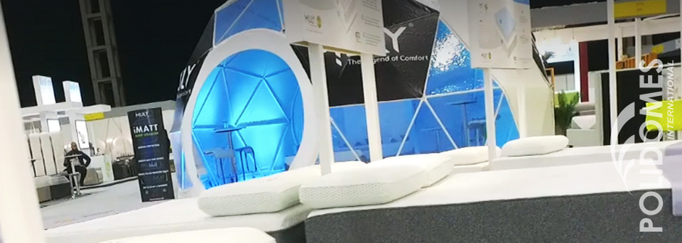 lightened branded booth tent