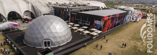 projection dome on the festival
